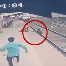 SNIMAK OD KOGA ĆETE SE NAJEŽITI: Hrabri radnik pokušava da spasi dete dok se voz ubrzano približava (VIDEO)