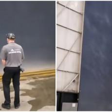 SNIMAK OD KOGA ĆETE SE NAJEŽITI: Radnici fabrike zabeležili stravične scene nevremena (VIDEO)