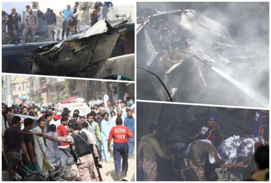 ŠOK IZ PAKISTANA: U stravičnom padu putničkog aviona na stambenu četvrt Karačija IMA PREŽIVELIH! (VIDEO)