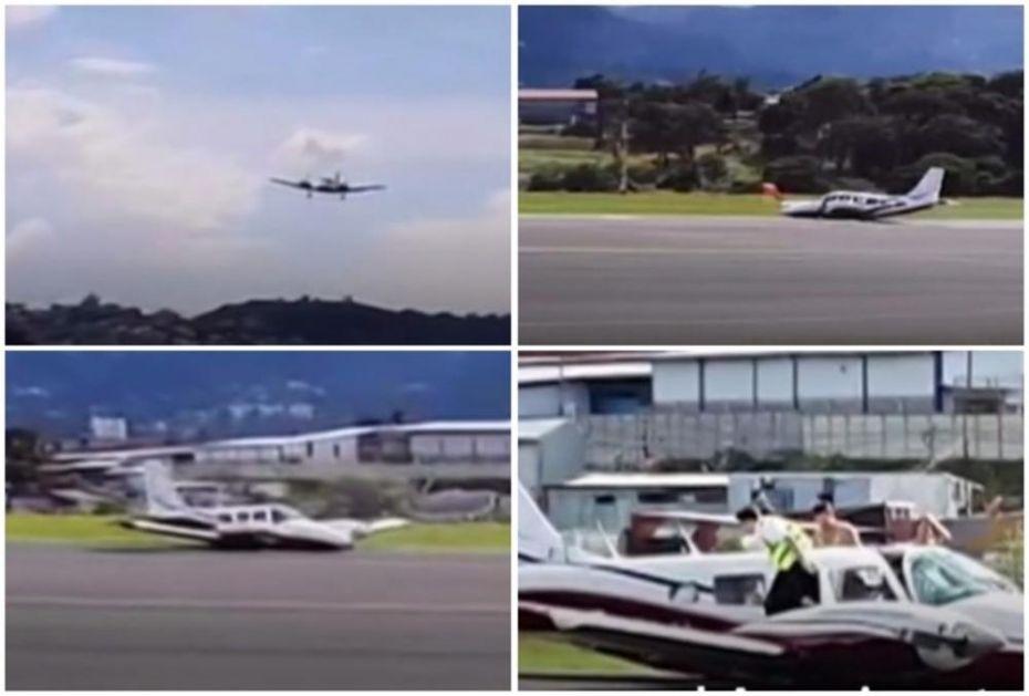 ŠOKIRANI PUTNICI NE MOGU DA DOĐU SEBI: Avion prinudno sleteo, pukle mu gume, na pisti izveo pravu VRATOLOMIJU (VIDEO)