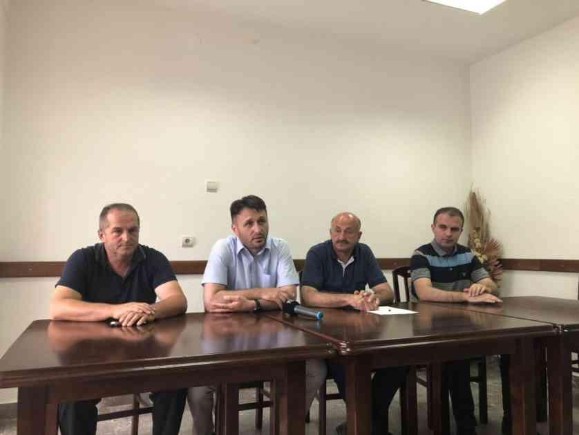 SPP OO Tutin konferencija za štampu o suđenju i drugim problemima u Tutinu
