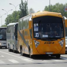 700m dugačka kolona autobusa na naplatnoj rampi u Staroj Pazovi!