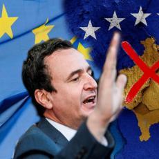 SRBIJA DA PRIZNA NAŠU DRŽAVU! Kurtijev obraz kao đon - ne zaustavlja se sa provokacijama, ZAHVALIO Italiji