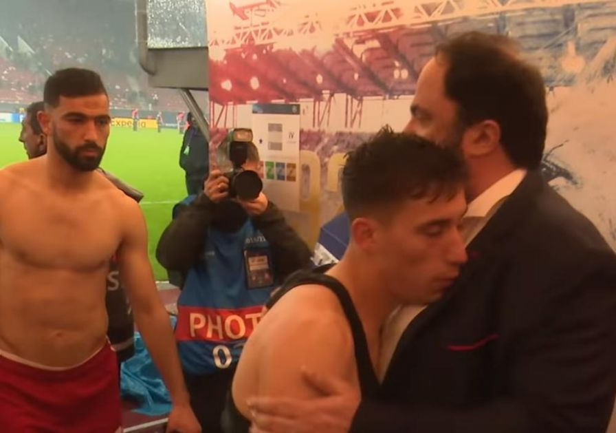 SRPSKE PSOVKE ISPRED SVLAČIONICE: Evo šta se desilo dok je predsednik Olimpijakosa igračima čestitao pobedu nad Zvezdom