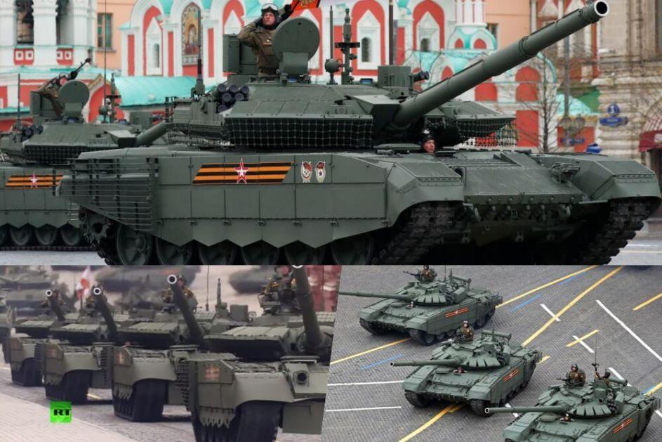 ŠTA JE PRIKAZANAO NA PARADI U MOSKVI: Tenkovi T-90M i T-80BVM ponovo u fokusu NATO pakta!