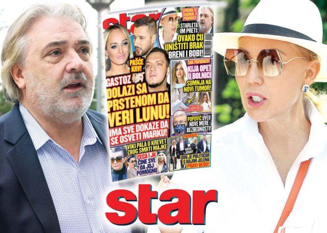 STAR saznaje: Poznata starleta hoće da uništi brak Breni i Bobi!