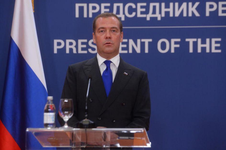 STAV RUSIJE JASAN, MEDVEDEV PORUČIO: Stav Rusije o poštovanju suvereniteta Srbije na Kosovu i rezolucije 1244! Uvek smo govorili da polazimo od pune podrške Srbiji, i tako će i ostati