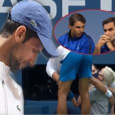 STRAHOTE! ČISTE STRAHOTE! Đoković namerno pogodio sudiju! Lažira povrede, Federer i Nadal mu nedostižni Au, Španci!