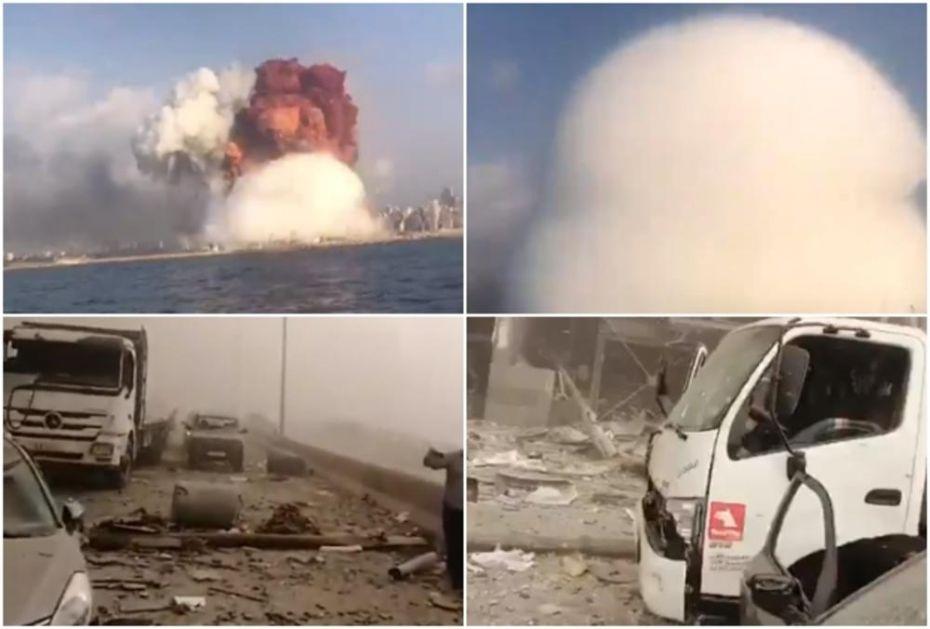 STRAVIČNI SNIMCI IZ BEJRUTA: 70 mrtvih u eksplozijama, 3.000 povređenih! Guverner ovo uporedio sa Hirošimom (VIDEO)