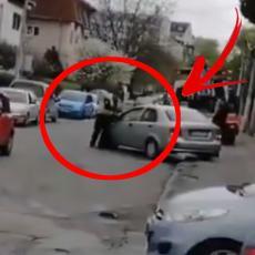 SULUDA IDEJA: Bahati vozač umalo PREGAZIO policajca - DRAMA u Beogradu (VIDEO)