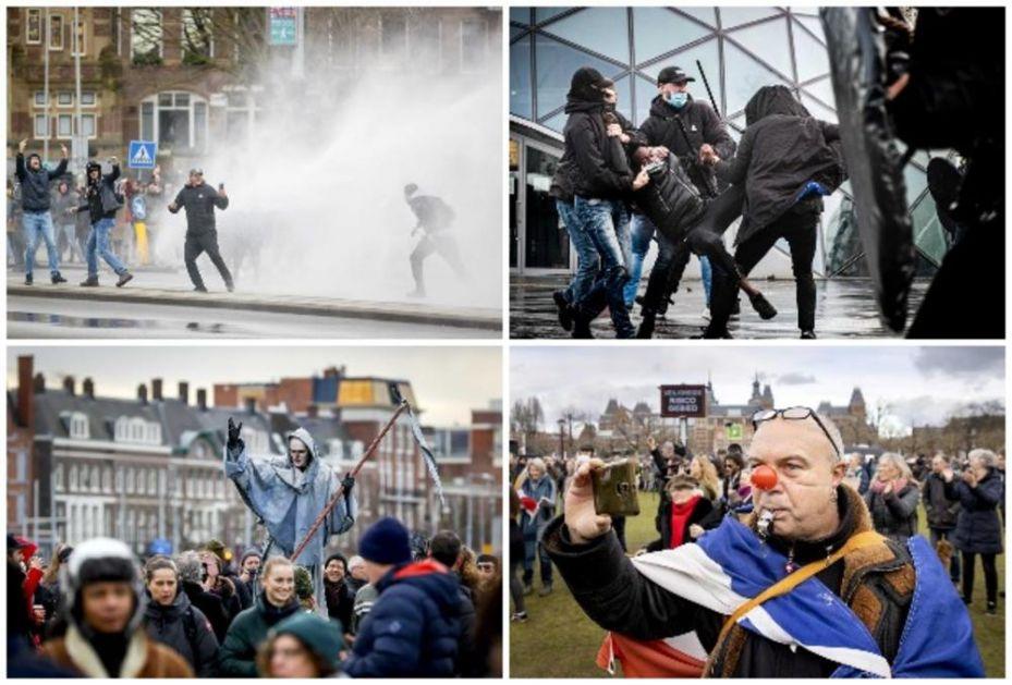 SUZAVAC I VODENI TOPOVI N APROTESTIMA U HOLANDIJI: Uhapšeno 25 demonstranata u sukobima sa policijom! (FOTO)