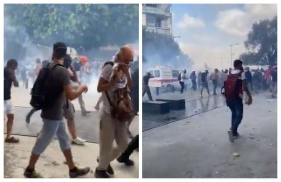 SUZAVAC U RAZRUŠENOM BEJRUTU: Hiljade demonstranata probalo da dođe do parlamenta, uzvikuju ODLAZITE UBICE! (VIDEO)