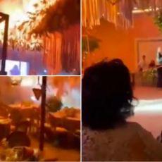 SVADBA IZ PAKLA! Gosti jedva spasili živu glavu - zapalila se dekoracija (VIDEO)