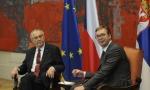 SVEČANI DOČEK ZA ZEMANA: Sastanak predsednika Srbije i Češke u četiri oka