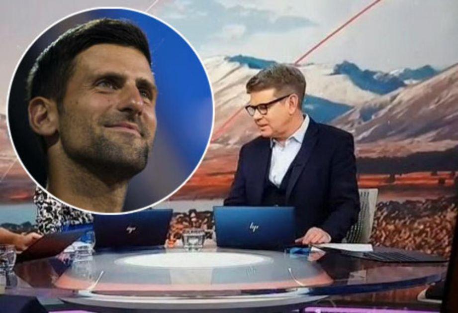 SVET JE ZGROŽEN! VELIK SRAMOTA NACIONALNE TELEVIZIJE: Bezobrazni voditelj izvređao Đokovića: On je ku*** (VIDEO)