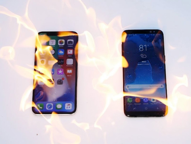 Samsung Galaxy S8 vs iPhone X u vatri!