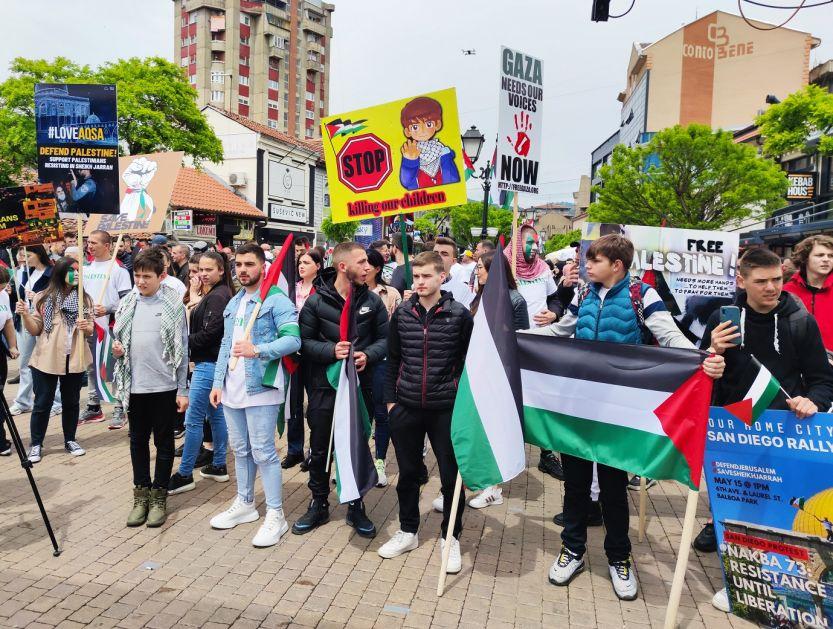 Sancakta Filistine Destek Amaçlı Gösteriler – Rasim Ljaićin (Lyaiç) Partisi, ABDye ve Arap Ülkelerine Çağrıda Bulundu