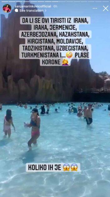 Sanja kovid elita Marinković ponovo briljira: Ruga se ženama na plaži i jedina brine zbog korone
