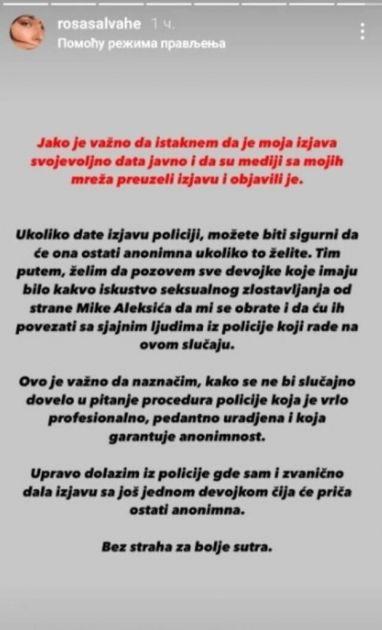 """Sara Zeljković pozvala koleginice da prijave seksualno zlostavljanje: """"Upravo dolazim iz policije gde sam zvanično dala izjavu"""""""