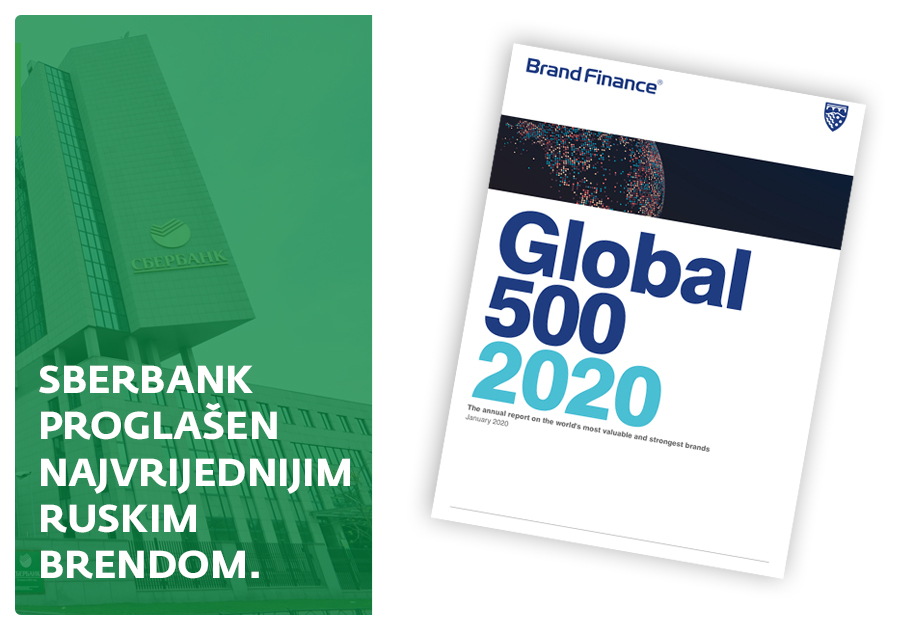 Sberbank i ove godine proglašen ruskim najvrijednijim brendom na svijetu