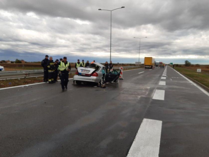 Sedmoro povređenih u sudaru na auto-putu kod beogradskog aerodroma