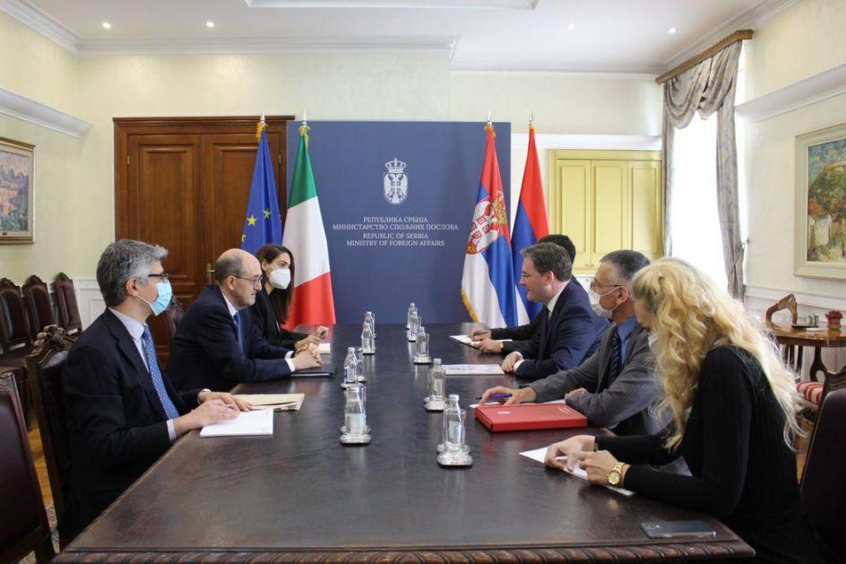 Selaković: Visok nivo saradnje Srbije i Italije