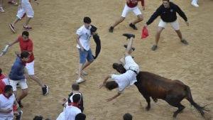 Šest povređenih u novoj trci s bikovima u Pamploni