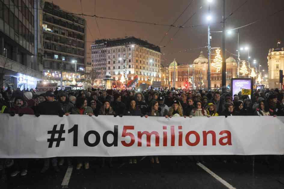Šesti protest Jedan od pet miliona održan u Beogradu