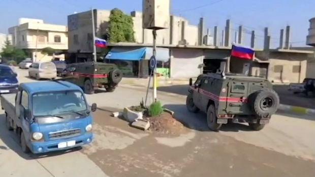 Sirija, prva zajednička patrola ruskih i turskih trupa
