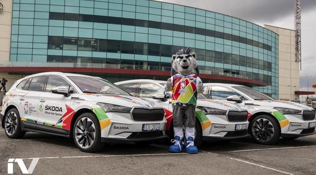 Škoda Enyaq iV flota za elektrifikaciju prvenstva u hokeju na ledu