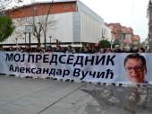 Skup podrške Vučiću: Rezultatima protiv snajpera (FOTO, VIDEO)