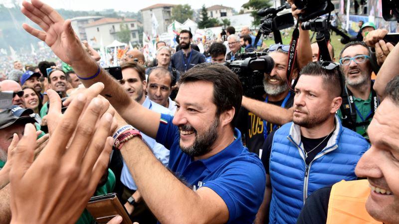 Skup podrške italijanskom desničaru Salviniju