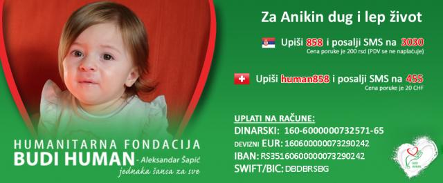 Skupljen novac za Aniku: Roditelji objavili dirljivu poruku