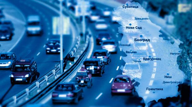 Slab intenzitet saobraćaja, uveče pojačanje