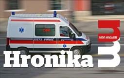 Šleper izleteo s kolovoza kod Ražnja i prevrnuo se, povređen vozač