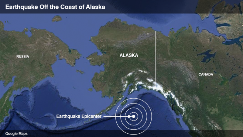 Snažan zemljotres na Aljasci, ukinuta upozorenja na cunami