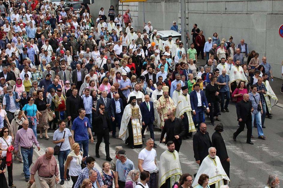 Spasovdanska litija najbrojniji molitveni skup u Beogradu
