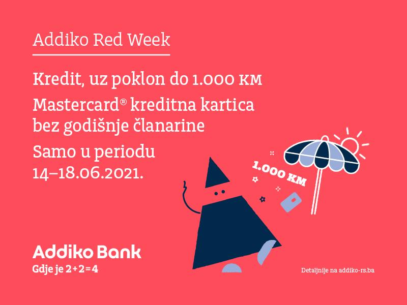Spremite se za ljeto, uz posebnu Addiko Red Week ponudu