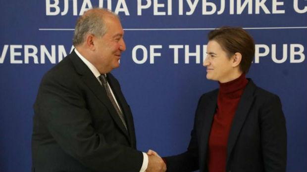 Srbija  ceni podršku Jermenije teritorijalnom integritetuSrbije