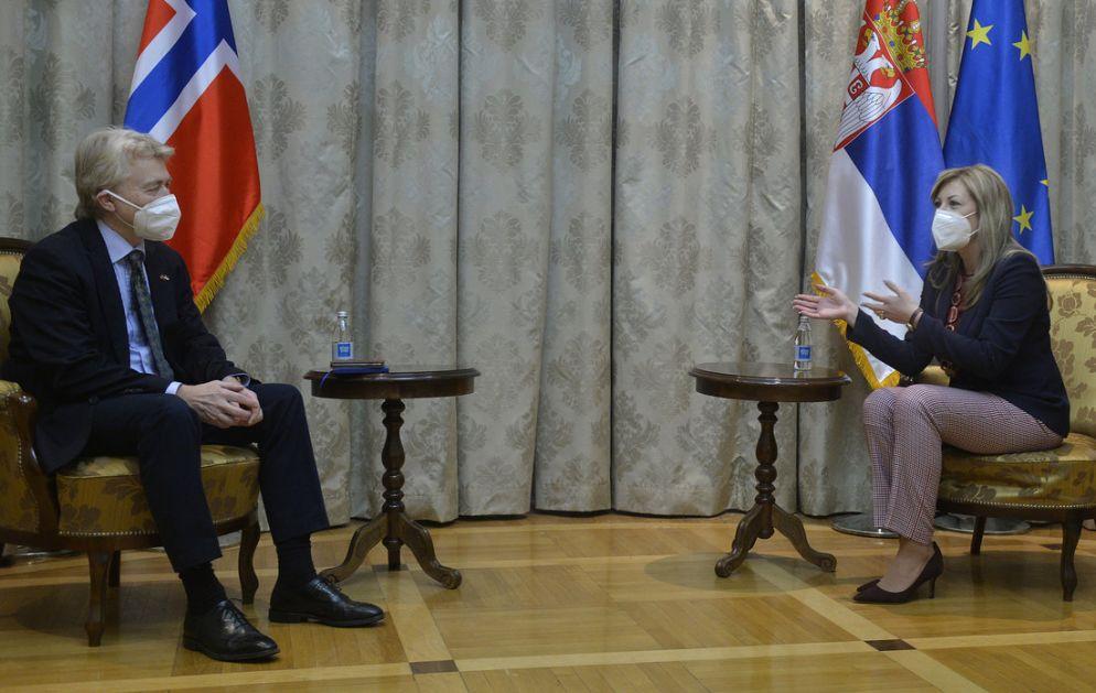 Srbija i Norvešla nastavljaju saradnju u oblasti vladavine prava i zelene agende