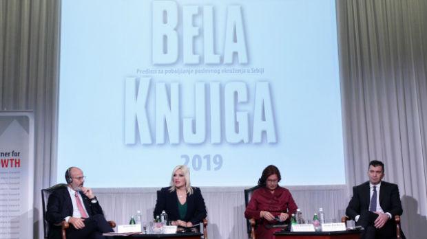 Srbija ispunila više od 40 odsto preporuka iz Bele knjige stranih investitora