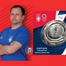 Srebro za Damira Mikeca - prva medalja za Srbiju na OI 2021