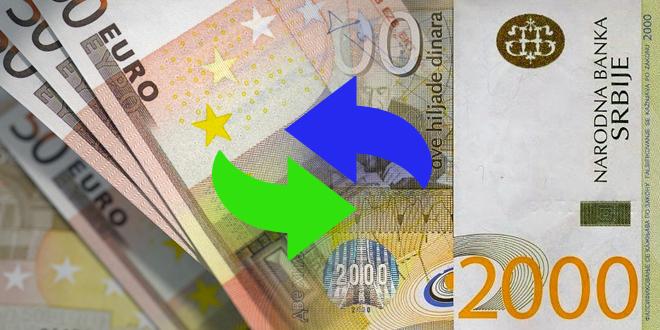 Srednji kurs dinara 117,61