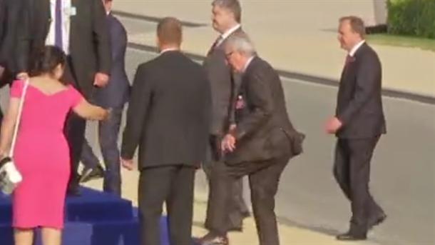 Šta bi s Junkerom? Posrtao, ljuljao se...(VIDEO)