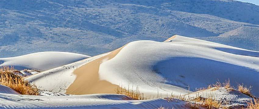 Šta se DEŠAVA sa vremenom? Snežni pokrivač i MINUS u Sahari i Saudijskoj Arabiji