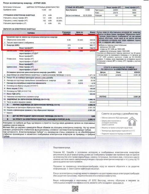 Šta znači stavka na računu za struju koja vam iz džepa svakog meseca izbije više od 100 RSD?