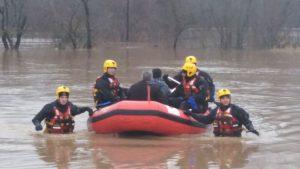 Štab za vanredne situacije: Evakuisane 93 osobe iz poplavljenih područja