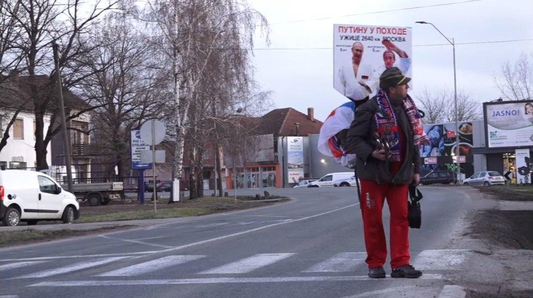 Stara Pazova: Užički Supermen krenuo pešice do Putina