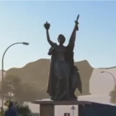 Statua Velika Srbija na kružnom toku u Užicu! (FOTO)