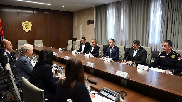 Stefanović sa predstavnicima posmatračke misije ODIHR